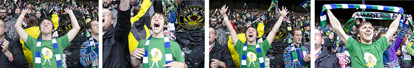 What a goal looks like at a Portland Timbers soccer game