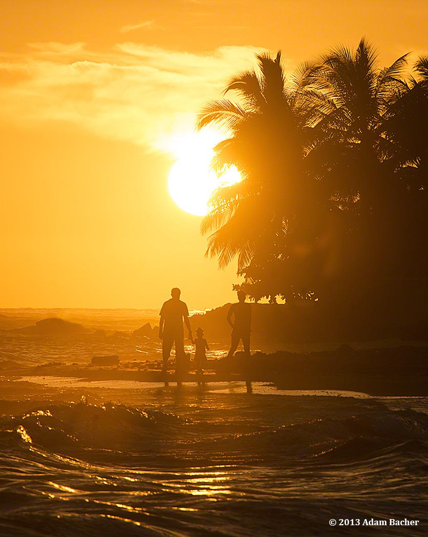 Sunset on Haiti's Caribbean Coast