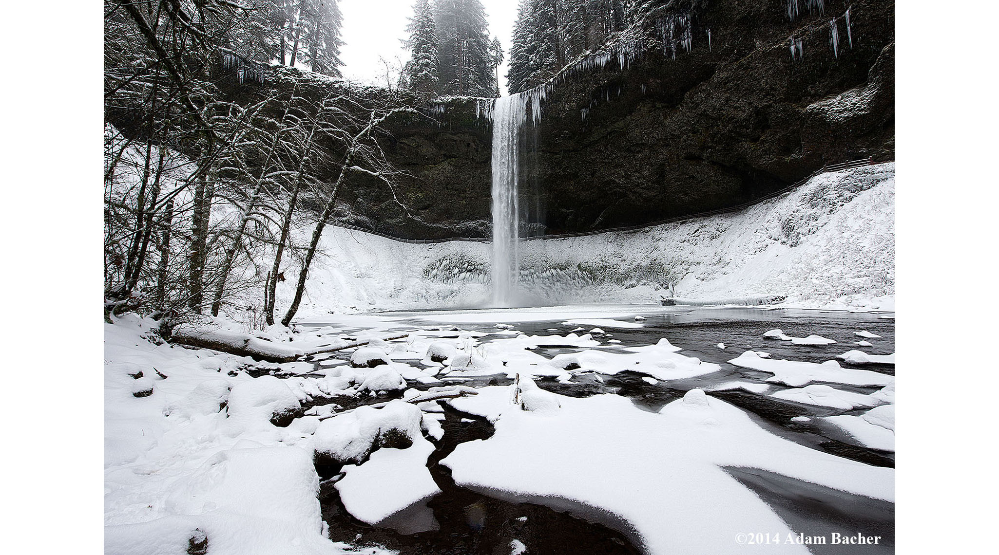 Photographing Waterfalls in Winter