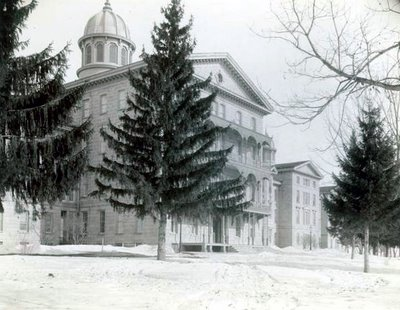 Exterior Winter view at WI State Hospital for the Insane WHS circa 1895 Bennett2