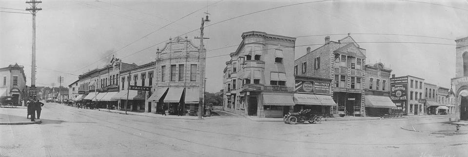 Panoramic view of Five Points, 1900-1909