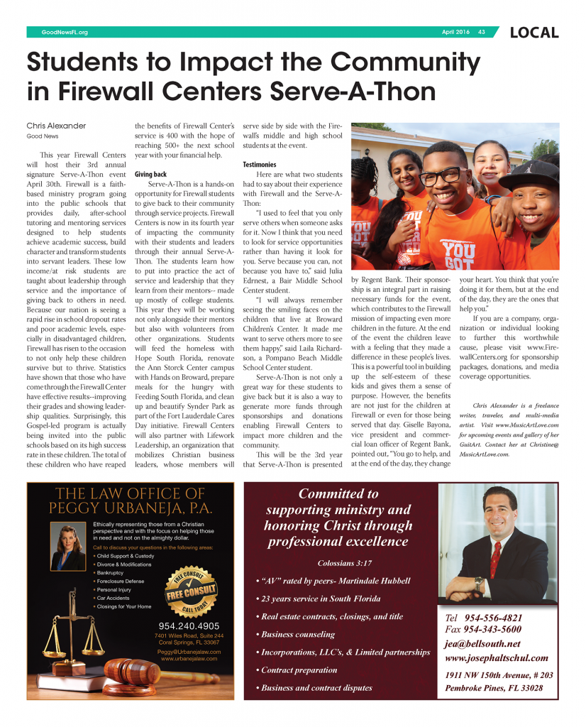 Good News Florida- Serve-A-Thon 2016