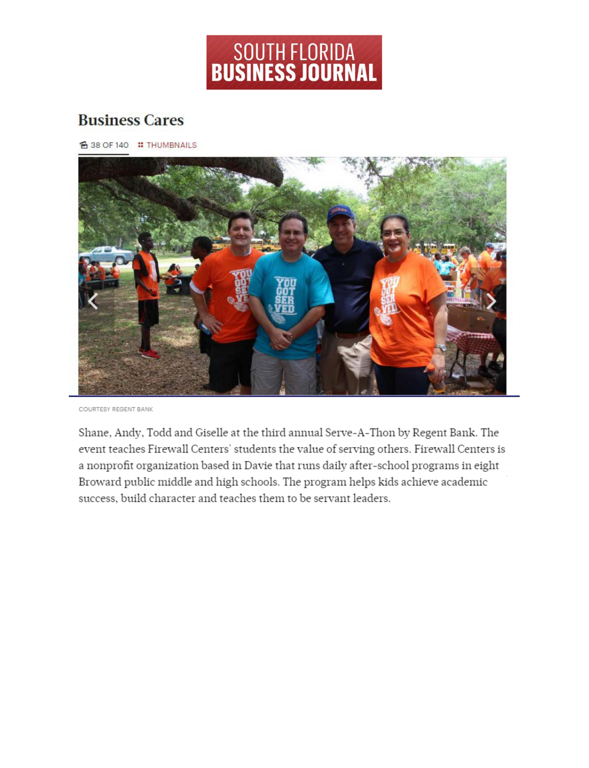 South Florida Business Journal – Business Cares