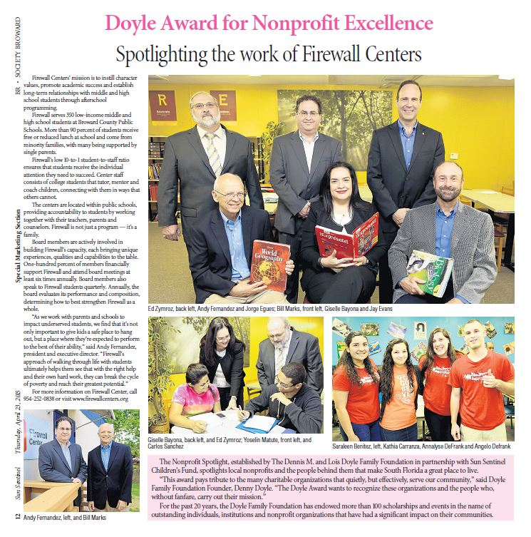 Sun Sentinel – Doyle Award for Nonprofit Excellence
