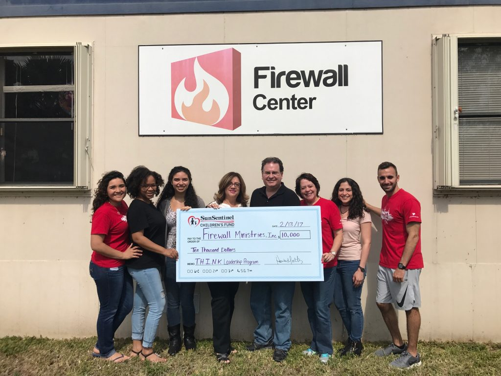Firewall Centers Receives $10,000 from Sun Sentinel Children's Fund