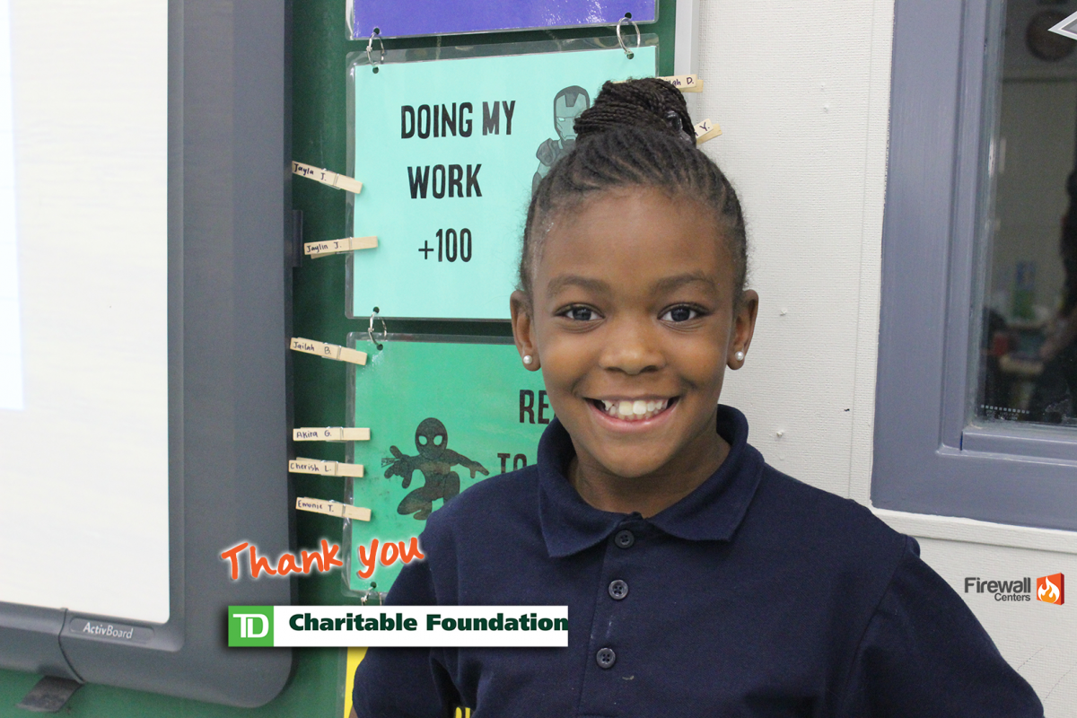 Firewall Centers receives $2,500 grant from the TD Charitable Foundation