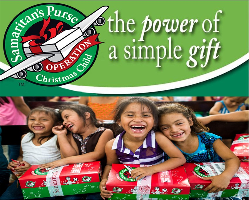 Operation Christmas Child Boxes Due