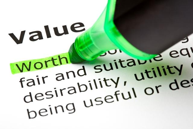 'Worth' highlighted, under 'Value'