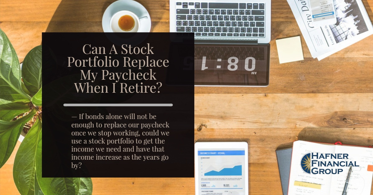 Can A Stock Portfolio Replace My Paycheck When I Retire?