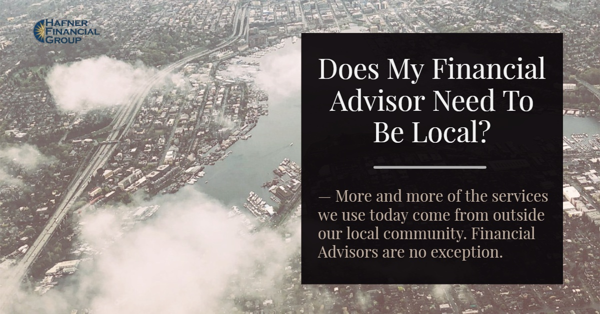 Does my Financial Advisor Need to be Local?