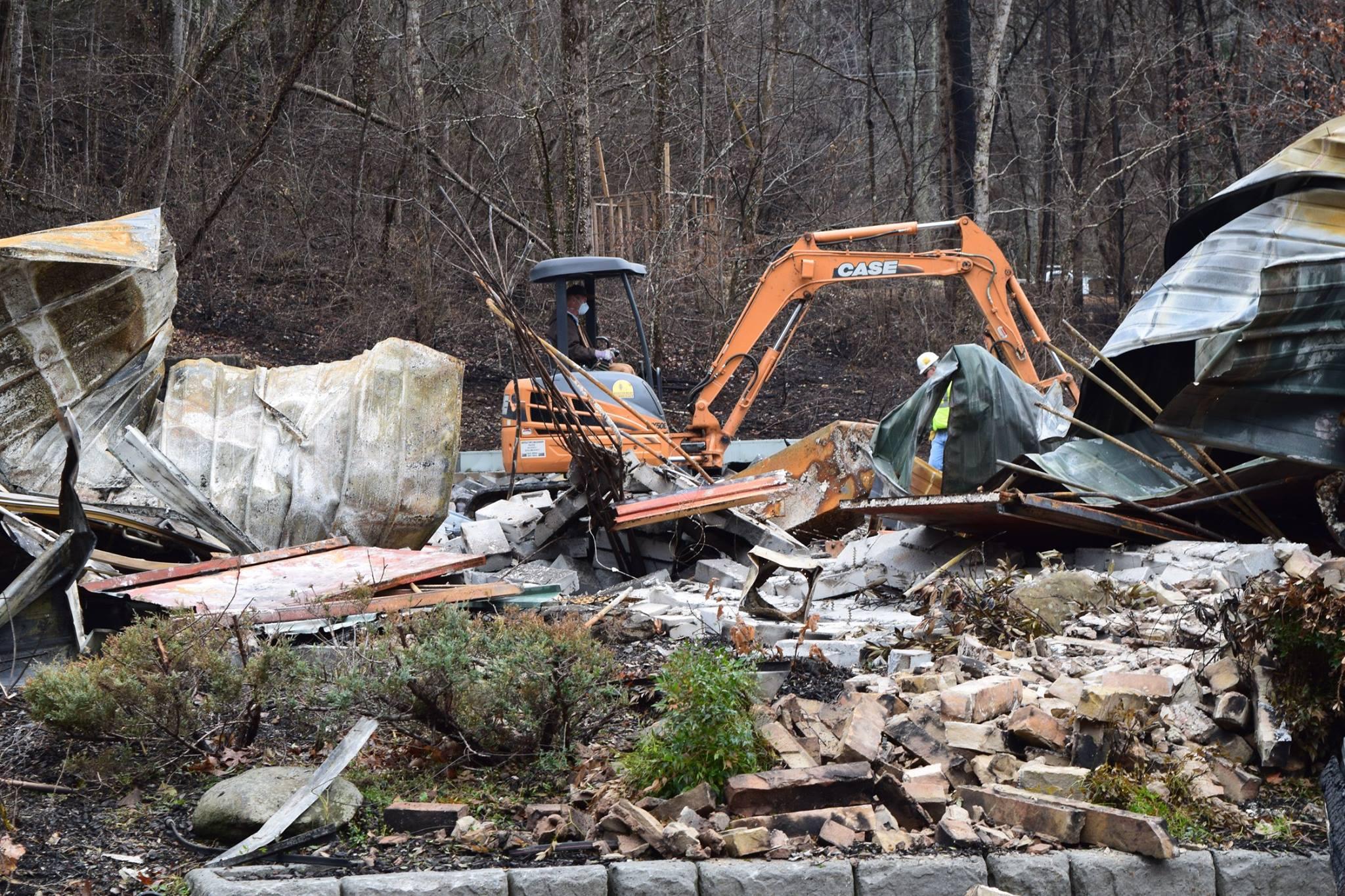 GFTW Forklift in destruction