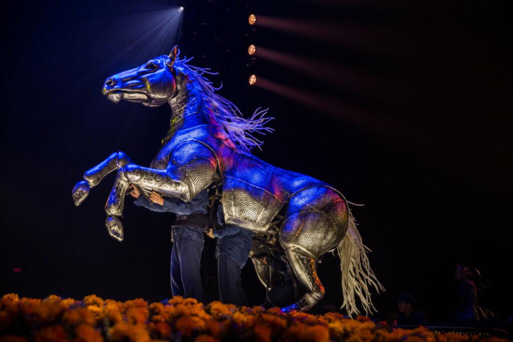 horse puppet in the circus - LUZIA
