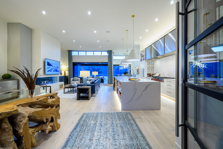entry way to interior designed home