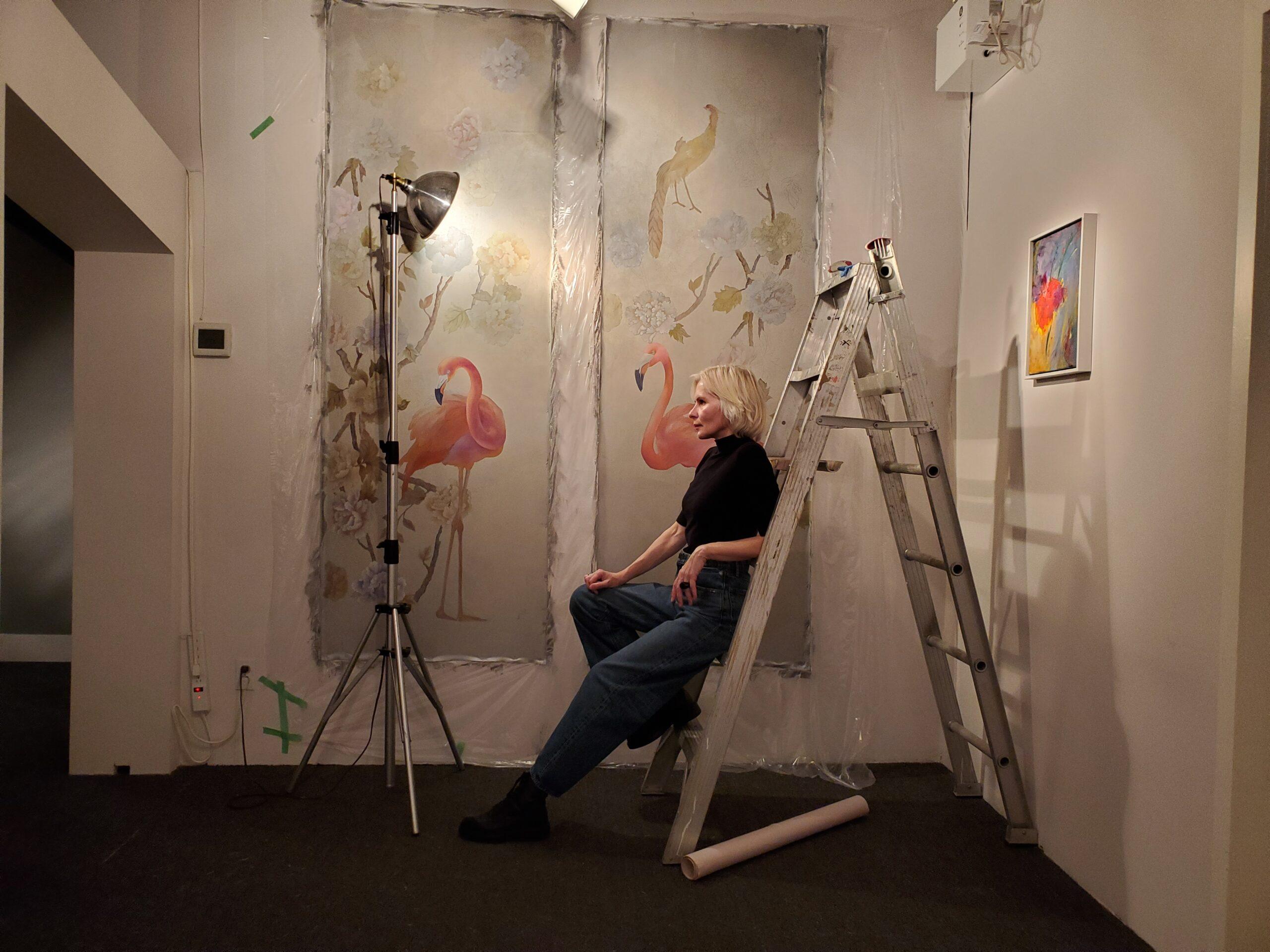 natalia vetrova on ladder