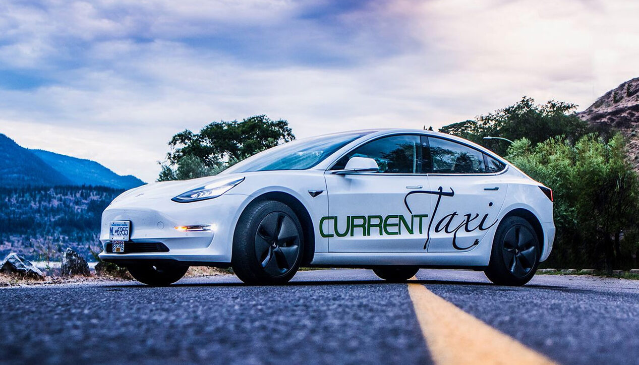 current taxi, tesla, dale conway, helen siwak, victoria, villa eyrie, kelowna, vancouver, electric vehicle, luxury, lifestyle, ecoluxury