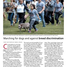 Dogs Unleashed Magazine: DC PIBBLE March inspires upcoming Michigan march!