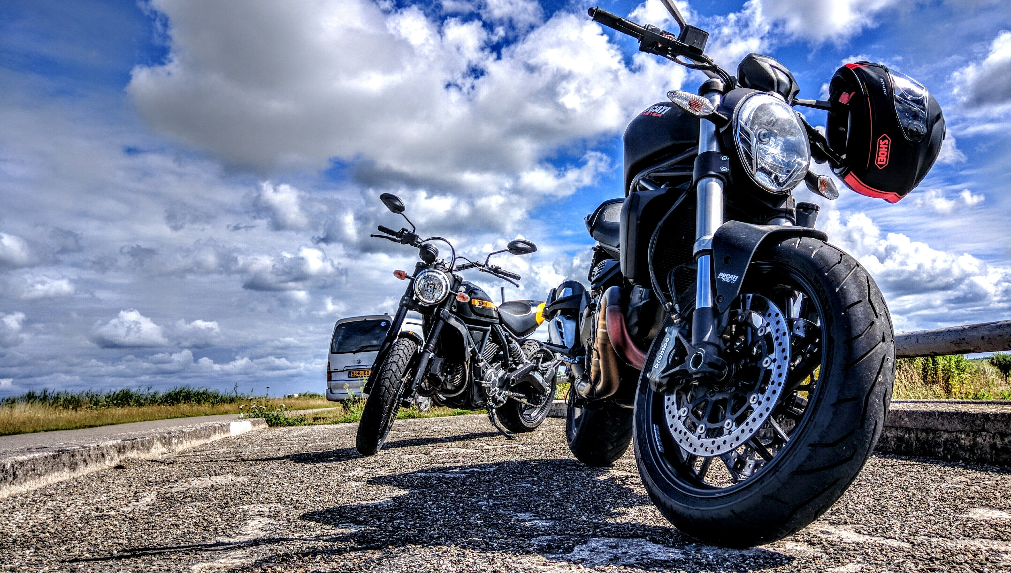 background-biker-clouds-daylight-207171