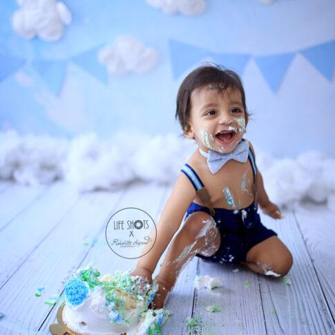 Best baby cakesmash photography in Delhi NCR Noida Gurgaon | Rakshita Kapoor