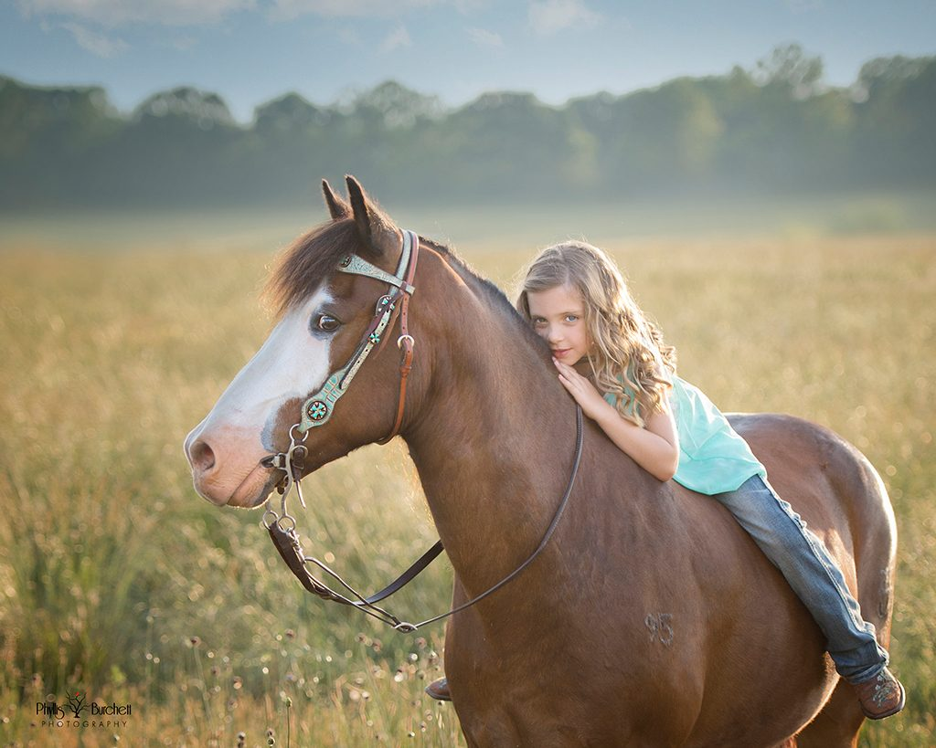 portrait girl on horse