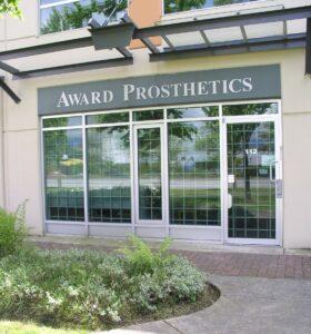 Award Prosthetics facade