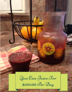JUICE FOR 150 A DAY