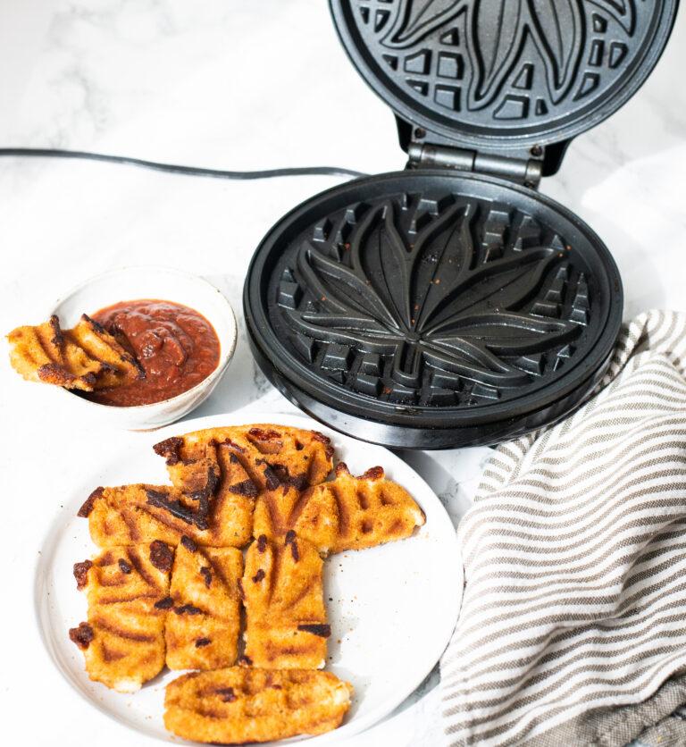 Waffled Mozzarella Sticks