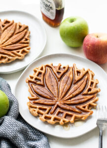 Apple Crisp Oatmeal Waffles