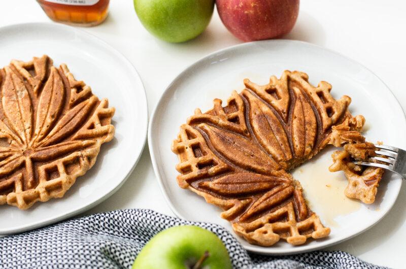 Apple Crisp Oatmeal Waffles