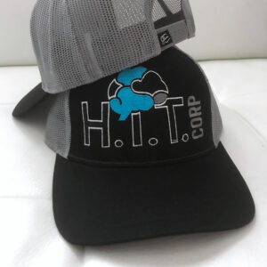 Black and Silver Trucker Hat