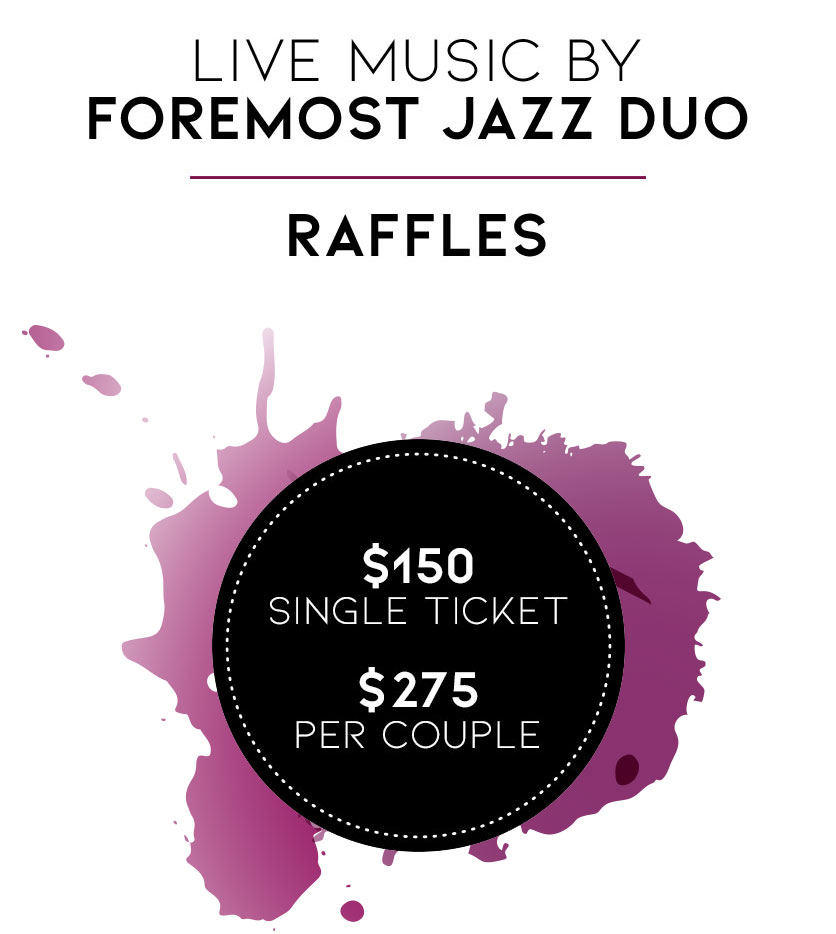 #150 for single ticket, $275 per couple's ticket. Live music by Foremost Jazz Duo, plus Raffles