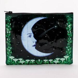 Blue q moon zipper pouch