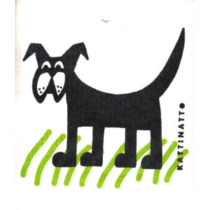 Kattinatt dog in grass dishcloth