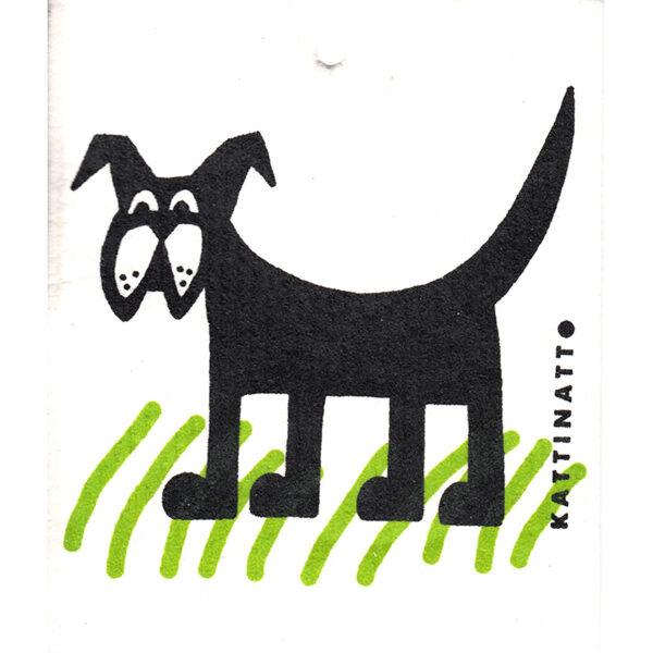 Kattinatt dog in grass dishcloth