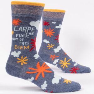 Blue q men's carpe diem socks