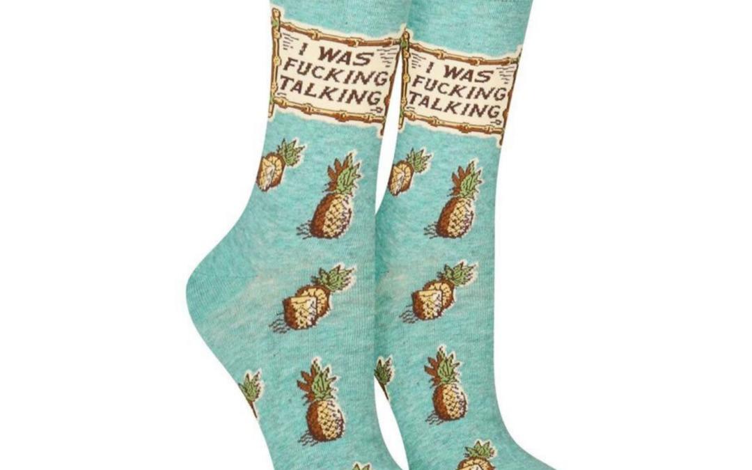 Blue Q Socks – I Was Fucking Talking Women's Socks
