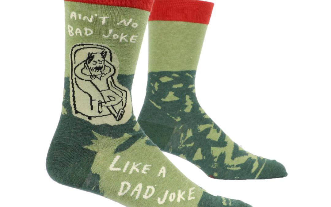 Blue Q Dad Joke Men's Sock