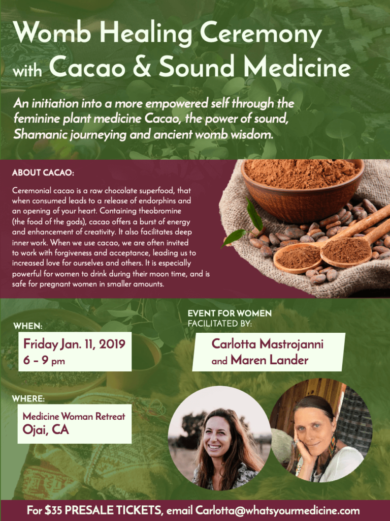 cacao ceremony 2019