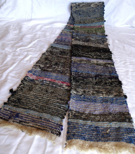 Sakiori weaving, hemp warp with cotton rag, from Japan, early to mid-20th c.  From the collection of Amanda Robinette - Western Sakiori