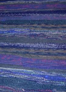 Amanda Robinette - Western Sakiori: rug made from felted wool sweaters