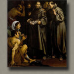 St. Diogo helping the sick and needy