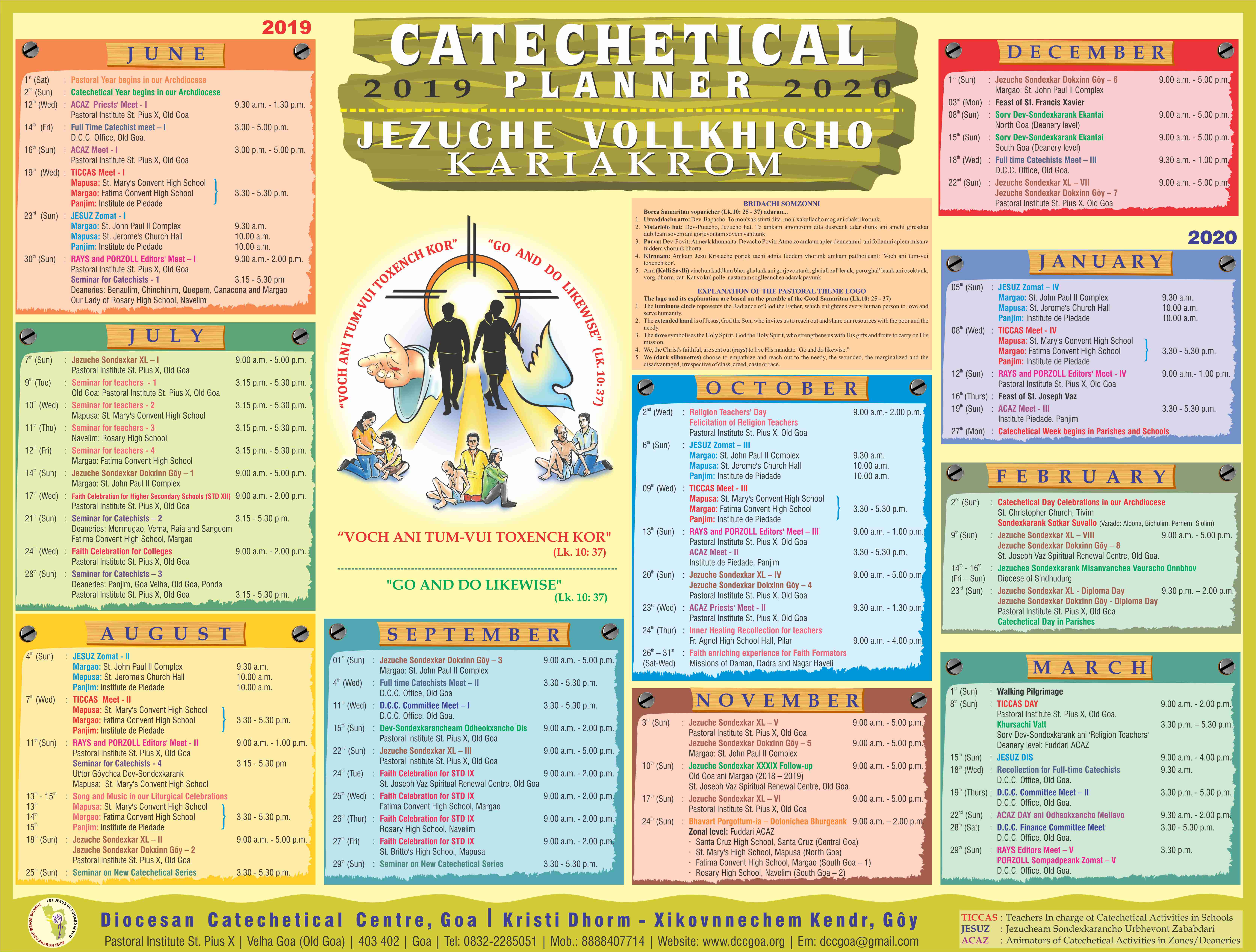 Diocesan Catechetical Planner 2019-20