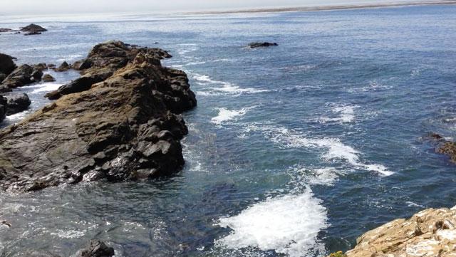 views at Harmony Headlands State Park