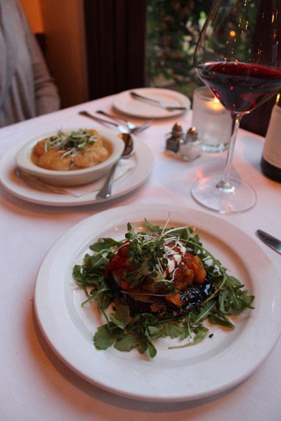 Madeline's Restaurant food on table