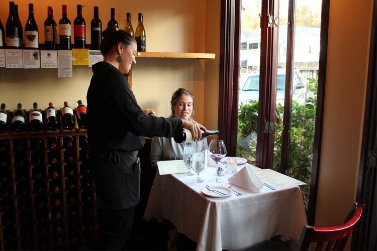 Madeline's Restaurant wine server