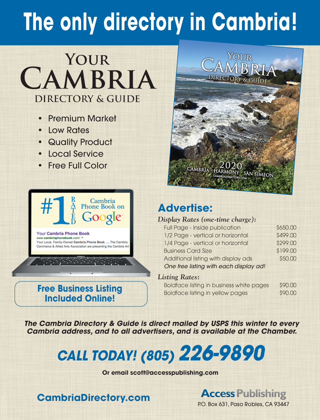 Advertise in cambria directory