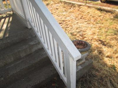 incorrect handrail flat outside