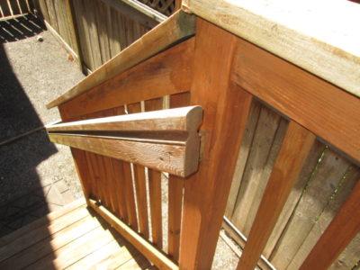 incorrect open handrail