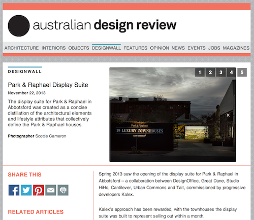 Park & Raphael Display Suite – Australian Design Review – Nov 2013