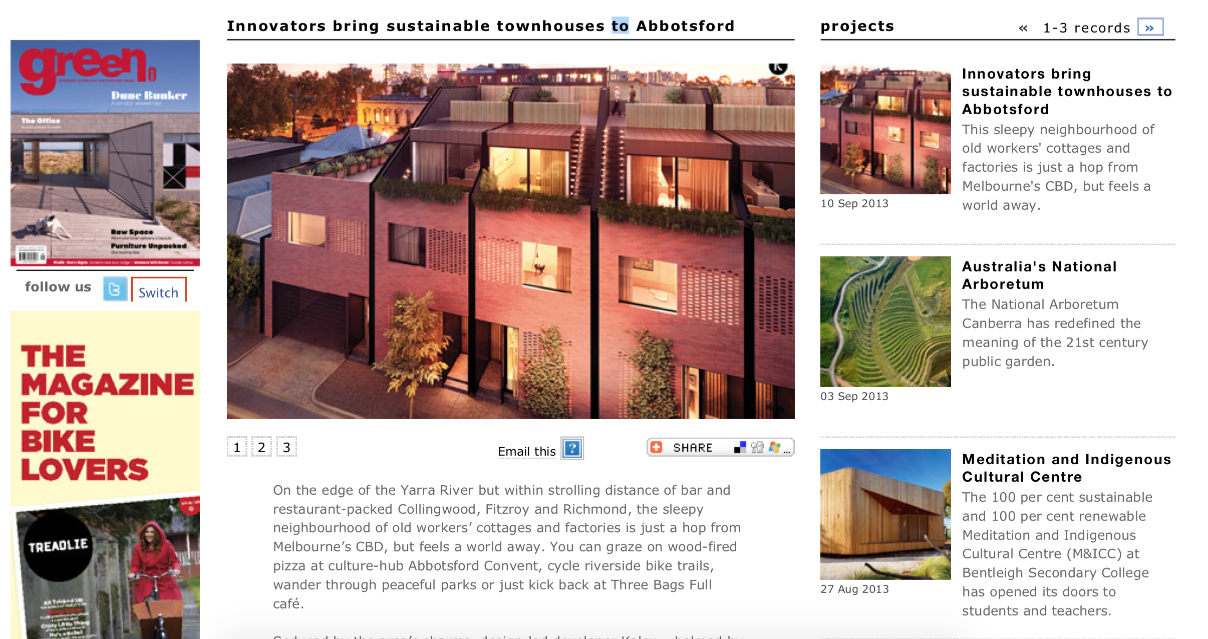 Green Magazine – Innovators bring sustainable townhouses to Abbotsford
