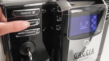 Gaggia Anima Super-Automatic Push Button Controls